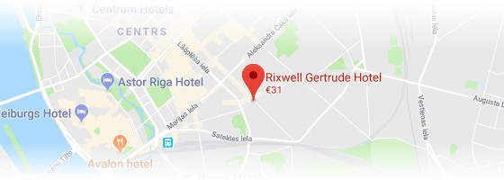 Rixwell Gertrude Hotel map